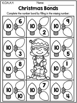 Christmas Activities Kindergarten Bundle Christmas Math Worksheets Kindergarten Christmas Math Activities Kindergarten Christmas Math Worksheets