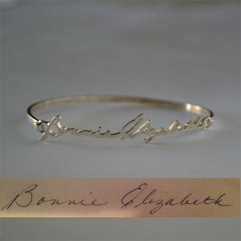 This is lovely. I would love to have my grandmother's signature incorporated in a piece of jewelry.