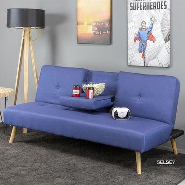 Kanapa Cinematicon Z Uchwytem Na Kubki Granatowa Sofa Frame Furniture Sofa