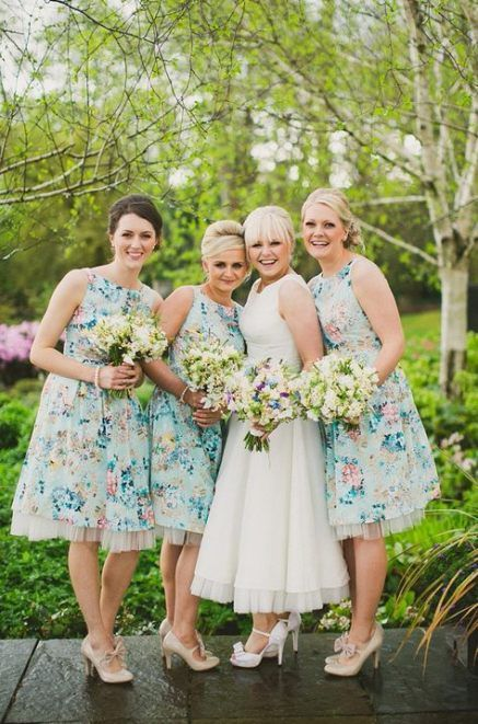25 Trendy Dress Bridesmaid Short Floral Prints Floral Bridesmaid Dresses 1950s Bridesmaid Dress Floral Bridesmaid Dresses Short