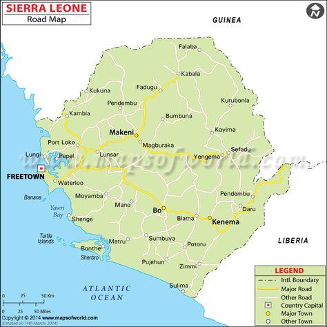 map of sierra leone in africa Google Search wwwgemtrustus