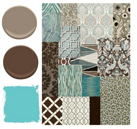 Blue Brown And Aqua Color Palette Places In The Home Aqua Color Palette Room Colors Room Color Schemes