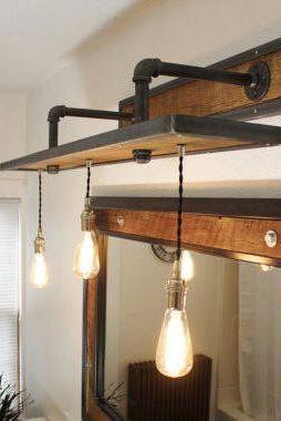 Vanity Light Fixture Reclaimed Oak Barnwood Reclaimed Barn Wood Vanity Barn Wood Reclaimed Barn Wood