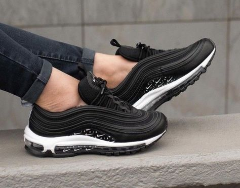 Nike Air Max 97 LX Overbranded Black White Women's Size 3 4