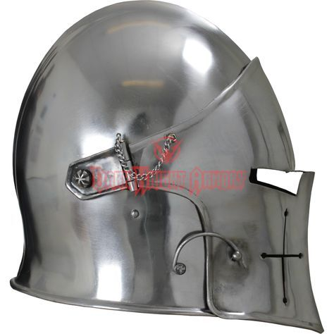 Visored Barbuta Helmet - MCI-2428 from Dark Knight Armoury