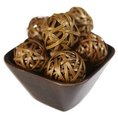 Cheap Decorative Balls Nearly Natural Decorative Balls  Set Of 12  3022  Natural And