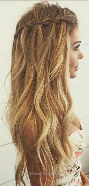 100 Cute Easy Summer Hairstyles For Long Hair Femaline Com 100 Cute Ea Aloha Haircuts Braided Prom Hair Waterfall Braid Hairstyle Long Hair Styles