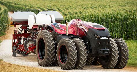 Quand la robotique rencontre l'agriculture, cela crée un tracteur autonome à l'aspect particulièrement intimidant… Présenté par CNH Industrial lors du salon Farm Progress 2016 dans l'Iowa, le monstre abrite 419 chevaux et atteint une vitesse m...