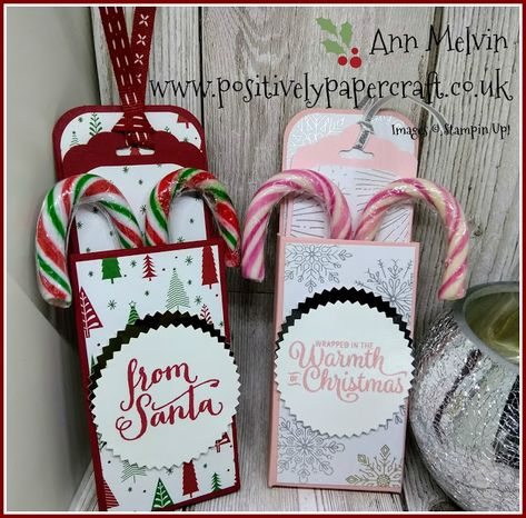 Positively papercraft: #5 Festive Friday Candy Cane Holder With Pull Out Tag