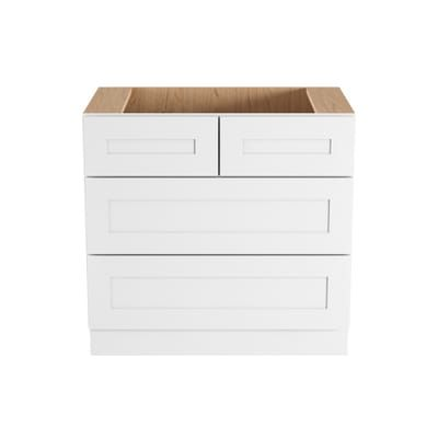 Home Decorators Collection Newport Assembled 36 In X 34 5 In X 24 In Base Kitchen Cabinet W Home Decorators Collection Soft Close Drawers Shaker Style Doors