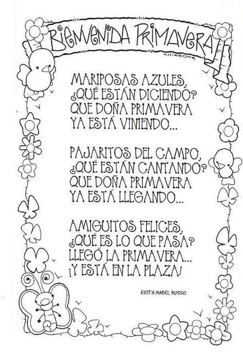 Poemas Y Rimas Infantiles De La Primavera Para Niños Poemas Cortos Para Niños Poemas De Primavera Rimas Infantiles