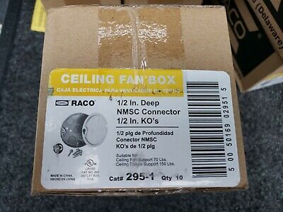 Ad Ebay Url Box Of 10 Hubbell Raco 295 1 2 Inch Deep 1 2 Inch Bottom Knockouts 4 Round Ceiling Fan Things To Sell Deep