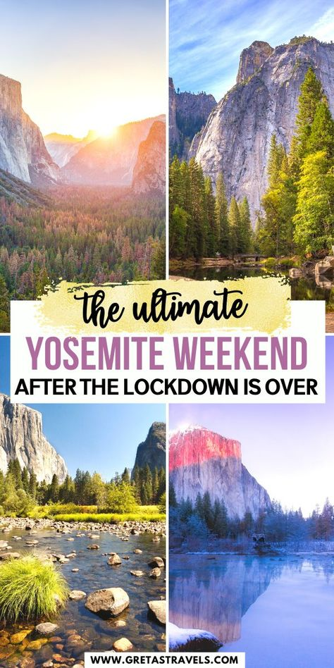 Yosemite is one of the most beautiful parks in the US. Discover how to spend an awesome weekend there with this ultimate Yosemite itinerary! Places To Travel, Travel Destinations, Places To Visit, Us National Parks, Yosemite National Park, Scenic Photography, Night Photography, Landscape Photography, Aerial Photography
