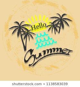 Summer Party Poster Beige Background Modern Summer