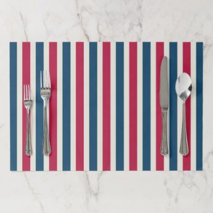 Patriotic Bbq July 4th Party Paper Placemats Zazzle Com Party Paper Holiday Paper Placemats