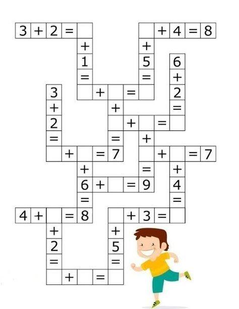Colorfunlearn: Simple addition. Math crossword #math