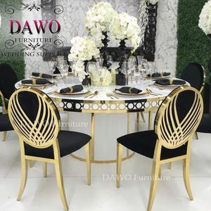 Source Ceremony Glass Mirror Stainless Steel Round Wedding Dining Table For Sale On M Alibaba Com Glass Mirror Dining Table Dining