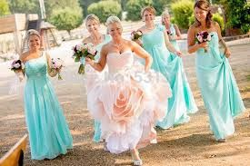 What Colour For Bridesmaid To Go With Blush Pink Wedding Dress