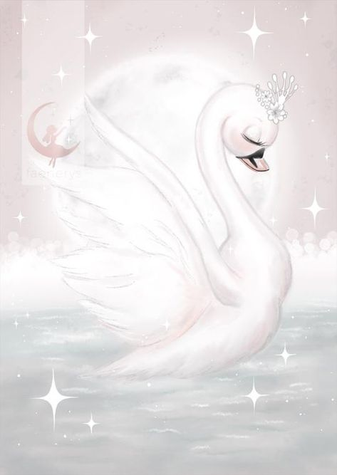 Penelope is a shy little Swan Princess that loves to dance. She prefers to give others the spot light, but when all have gone to bed she loves to dance by the moonlight earning her the nickname 'Moonlight Princess'. This high end print is embossed with Faenerys signature logo and is sure to add a touch of magic and lux