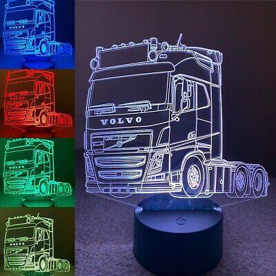 Volvo Fh4 Truck 3d Illusion Led Lamp Rgb Remote Control Can Be Personalised Ebay 3d Illusions Etched Gifts Led Lamp