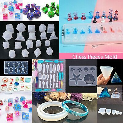 DIY Clear Silicone Mold Making Jewelry Pendant Resin Casting Mould Tool Craft