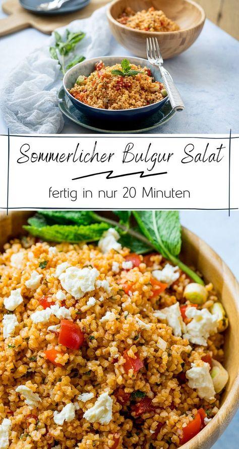 Der Bulgursalat ist schon extrem lecker! Dazu ist Feta ein extrem leckeres Topping. Der Salat ist super fix gemacht, hält sich einige Tage im Kühlschrank und ist perfekt für Meal Prep geeignet...