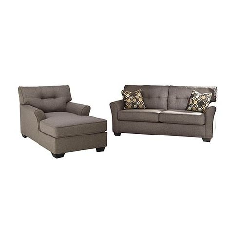 signature design by ashley tibbee slate sofa and chaise home