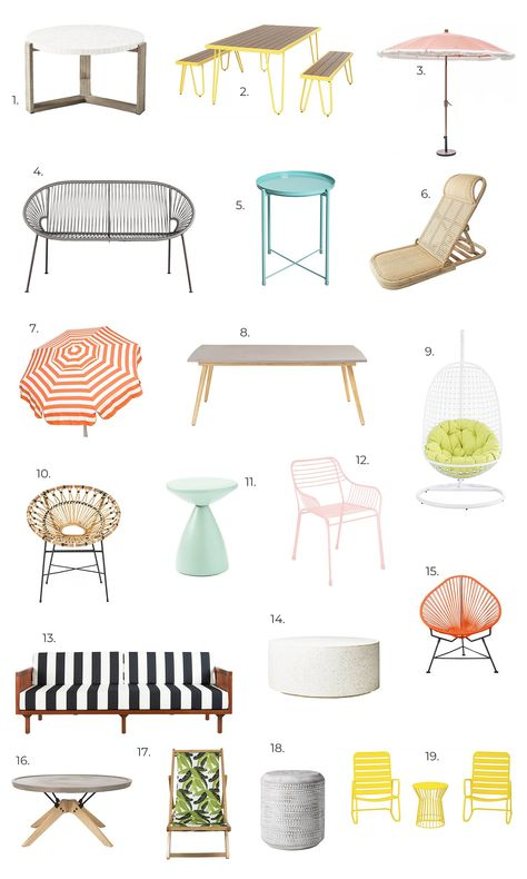 A Beautiful Mess Outdoor Furniture Wishlist