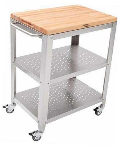 מוצר Culinarte Stainless Steel Kitchen Cart With 30 By 20 Inch