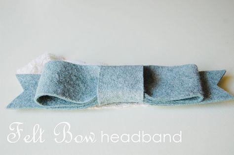 Felt Bow Headband. @Emily Sparks - Craft night selection?