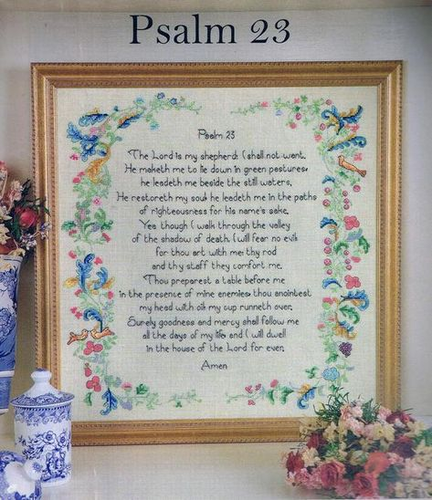 Design Works 23rd Psalm The Lord Is My Shepherd Counted Cross Stitch Kit