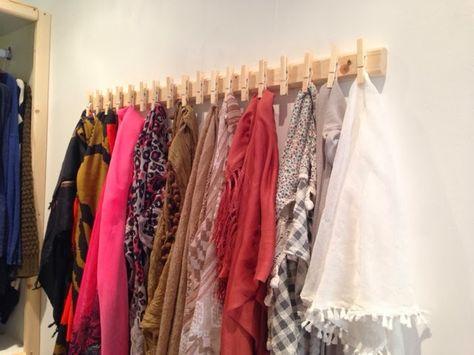 grande variété de styles remise spéciale de grossiste Tuto : fabriquer un porte-foulards récup' | DIY : Do It ...