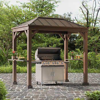 Fallbrook Grill Gazebo Grill Gazebo Gazebo Backyard Pergola