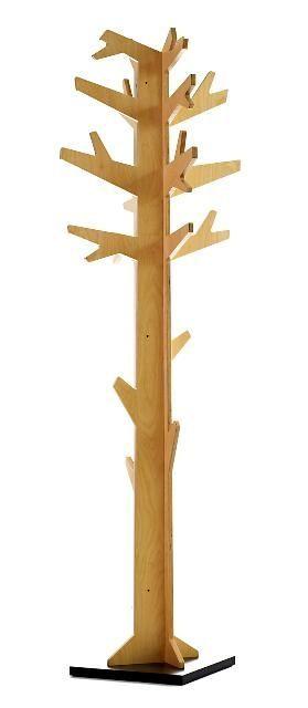 Attaccapanni da terra Albi in legno a forma di albero ...