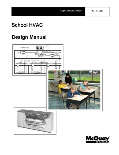 Ag31 004 School Hvac Design Manual Hvac Design Design Hvac