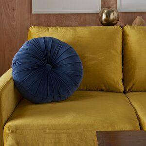 Wrought Studio Gaelle Cotton Round Throw Pillow Reviews Wayfair In 2020 Throw Pillows Pillows Round Throw Pillows