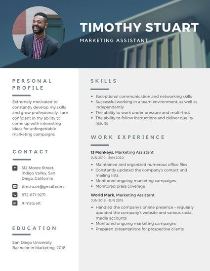 A4 Extremely Motivated To Constantly Develop My Skills And Grow Professionally I Am Confident In My Ability T Infographic Resume Resume Template Free Resume