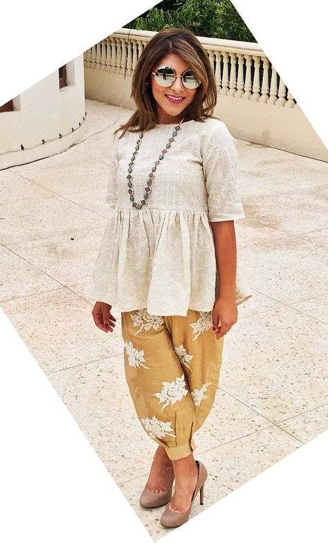 Dhoti pants are high on trend right now as they are comfortable and stylish! Here are 6 different outfit ideas for women to style dhoti pants with.
