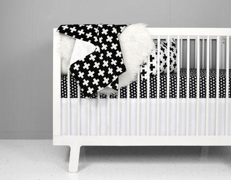 Olli Lime Modern Crib Bedding Modern Black White Nursery Bedding Modern Crib Bedding White Baby Bedding White Crib Bedding