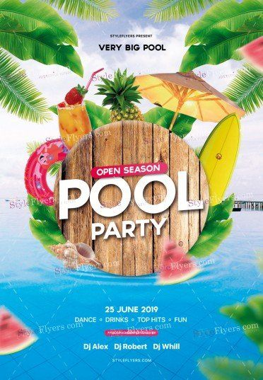 Pool Party Flyer Psd Template 30733 Pool Parties Flyer Pool Party Party Flyer