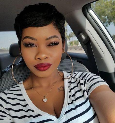 short hairstyles for black women 2018 #blackwomen #shorthairstyles #blackwomenhair