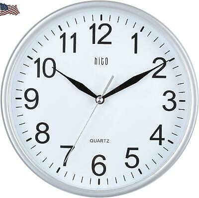 Hito Silent Wall Clock Non Ticking 10 Inch Excellent Accurate Sweep C32aee Fashion Home Garden Homedcor Clocks Ebay Link In 2020