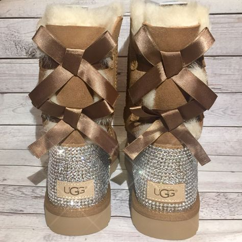 Bling baily bow UGG boots- FREE SHIPPING- crystal ugg boots with bows -  bedazzled c7e6ccf4d