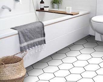 Tile Sticker Kitchen Bath Floor Wall Waterproof Removable Etsy In 2020 Tile Floor Vinyl Flooring Floor Stickers