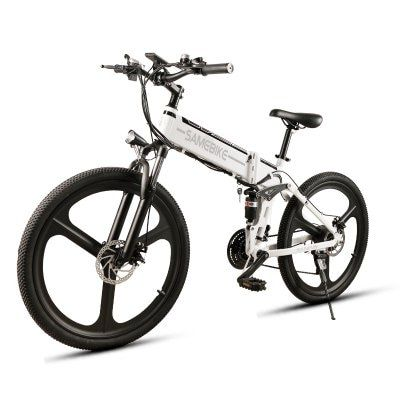 Samebike Lo26 350w Motor Folding Electric Bike 48v 10ah Battery Lcd Display Electric Bicycle Sale Price Reviews Gearbest Mickey Mouse