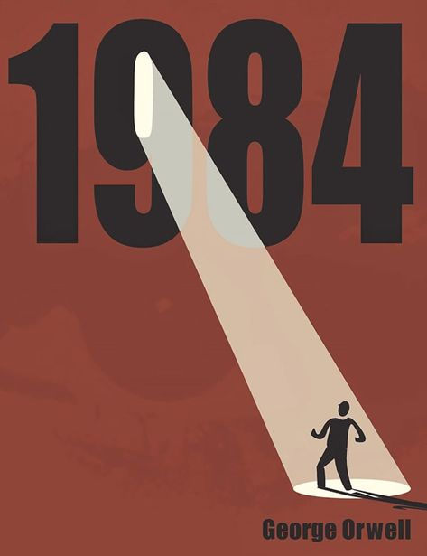 Version 2 - Nineteen Eighty-Four book cover, often published as is a dystopian novel by English author George Orwell published in June