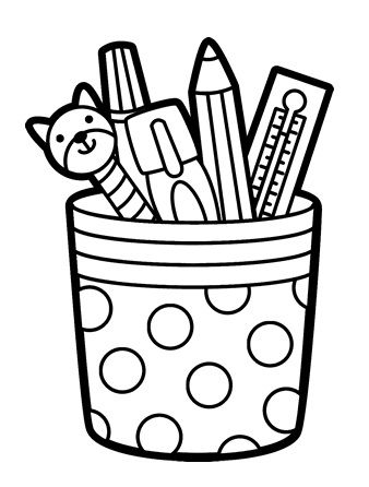 Pen And Pencil Cup Holder Coloring Page In 2021 Coloring Pages Free Printable Coloring Pages Printable Coloring Pages