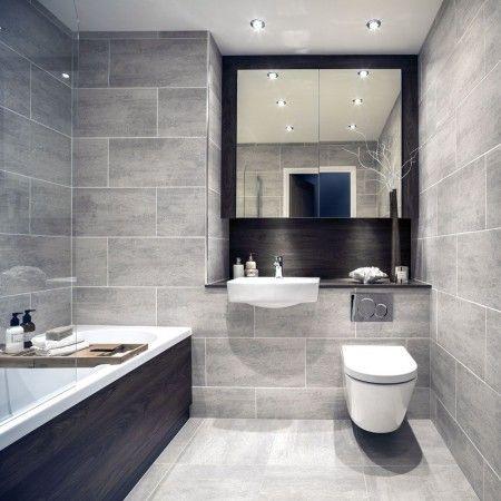 Rip Curl Grey Stone Effect Tiles Grey Bathroom Floor, Grey Bathroom Tiles,  Bathroom Wall Tile