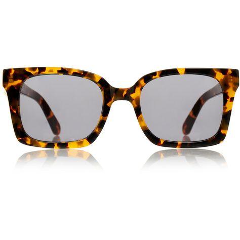 dcac1380a9e8 Karen Walker Praise Keeper Crazy Tortoiseshell Sunglasses (€82) ❤ liked on…
