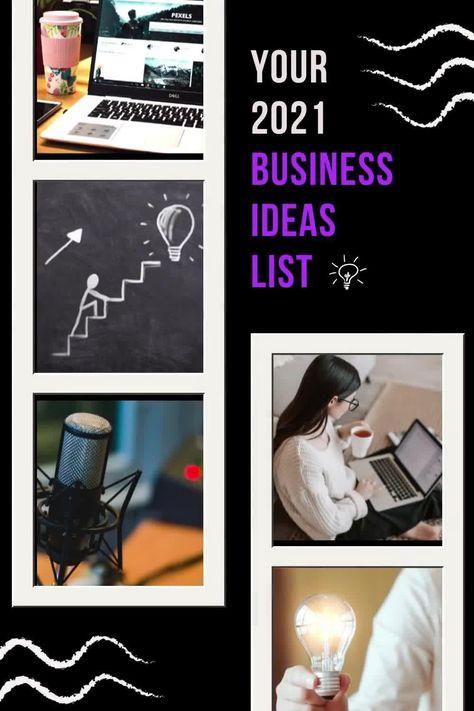 Your 2021 Business Ideas List
